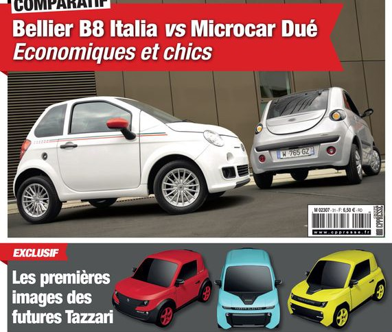 Génération sans Permis 31, Belli B8 vs Microcar Dué, Estrima Biro, Chatenet SXZ, food-trucks, Tazzari Zero
